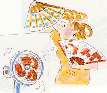 Ilustración mujer con menopausia