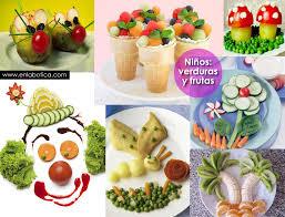 Niños, verduras y frutas