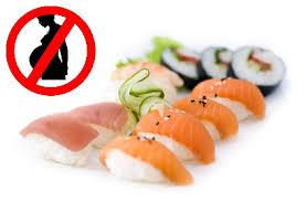 Prohibición del sushi durante el embarazo