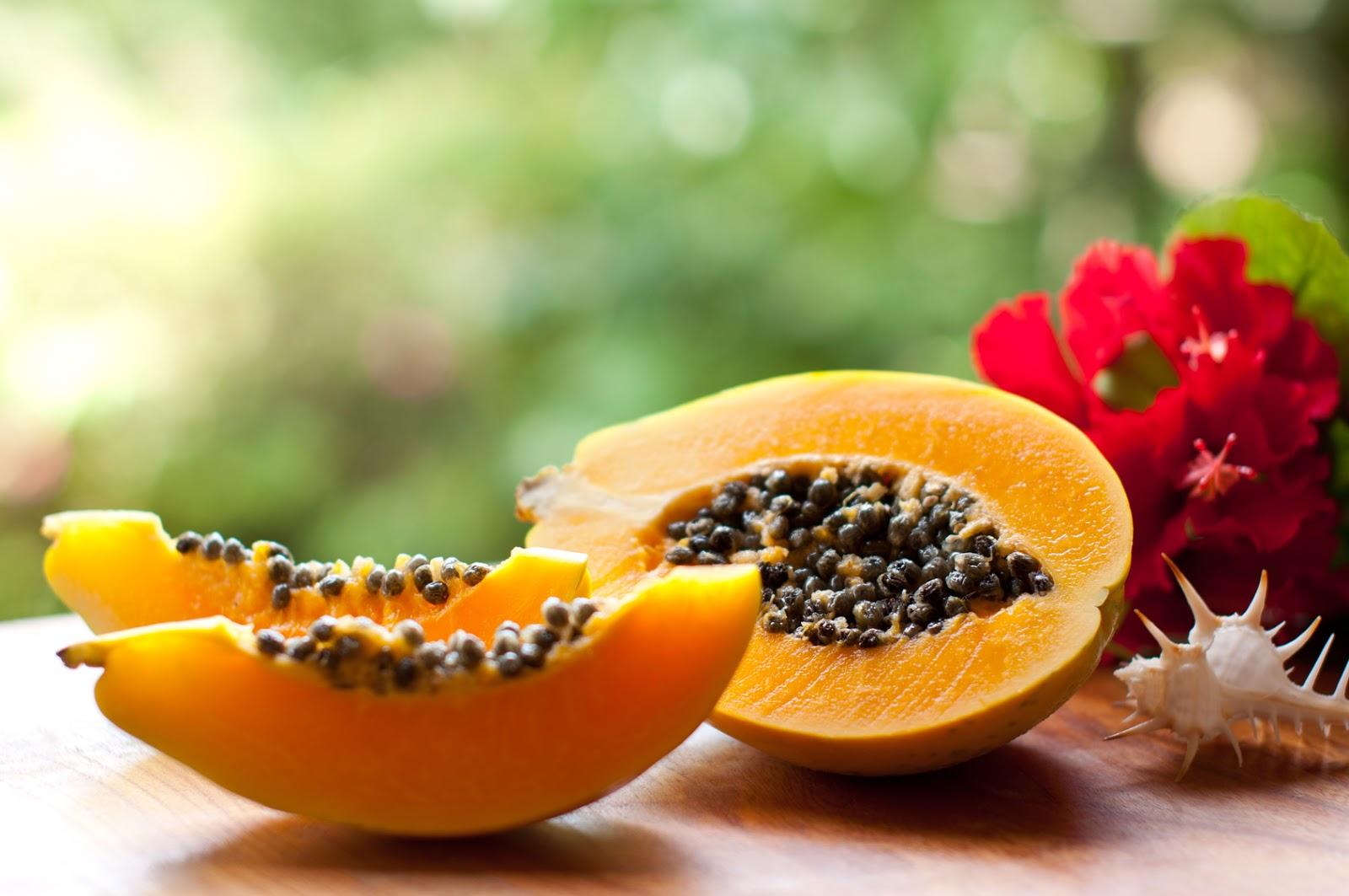 sepia con papaya
